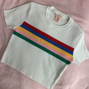 Urban Outfitters Cropped Short Sleeve Knit